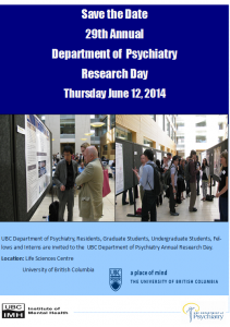 Save the Date: Department Research Day June 12th 2014
