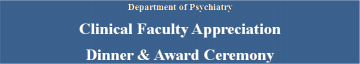 Clinical Faculty Appreciation Dinner and Award Ceremony June 12 2014