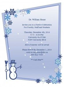 Department  Festive Celebration December 4th
