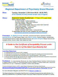 Regional Department of Psychiatry Grand Rounds – December 2, 2014