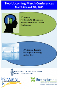 2015 Annual Toronto Psychopharmacology Update Day! ONLINE REGISTRATION NOW OPEN