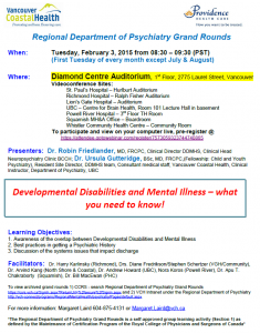 Regional Department of Psychiatry Grand Rounds – February 3 2015