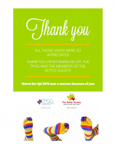 Thank you from  Kettle Society Warm Em Up