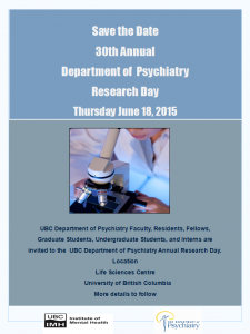 30th Annual Department Research Day Thursday June 18th