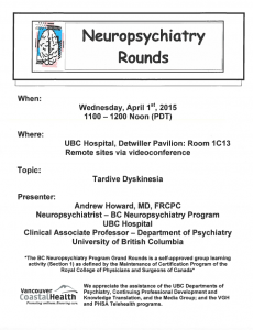 BCNP Grand Rounds Wednesday  April 1