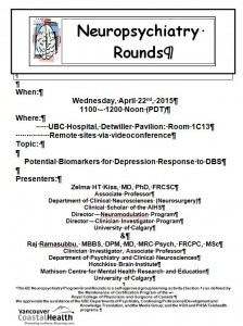 BCNP Grand Rounds Wednesday  April 22