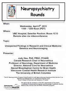 BCNP Grand Rounds: Wednesday  April 8
