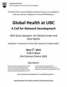 FoM Global Health Town Hall – May 5th 2015