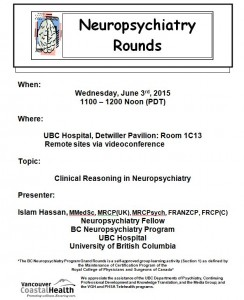 BCNP Grand Rounds  Wednesday  June 3