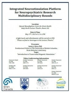 Integrated Neurostimulation Platform for Neuropsychiatric Research Multidisciplinary Rounds –  Wednesday, May 27th