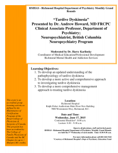 RMHAS Psychiatry Grand Rounds – Wednesday June 17th