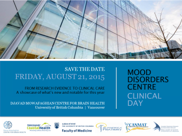 Save the date: 2015 Mood Disorders Centre Clinical Day