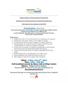 Lions Gate Hospital  Mental Health Breakfast Meeting Friday June 5th