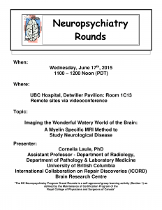 BCNP Grand Rounds: Wed. June 17 – Dr. Cornelia Laule