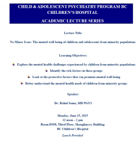 Academic Rounds – June 15, 2015 – Dr. Rahul Soma