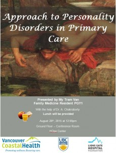 LGH – Inaugural Case Presentation – Personality Disorder Management in Primary Care August 28th
