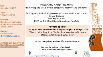 "Symposium "" Pregnancy and the Mind"" November 6th 2015"