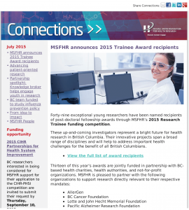 Faculty of Medicine – Weekly Announcements and Funding Opportunities July 27-31