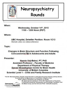 BCNP Grand Rounds  Wednesday  October  14th