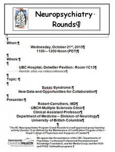BCNP Grand Rounds: Wednesday October 21st