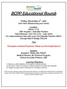BCPP Educational Rounds Friday November 6th