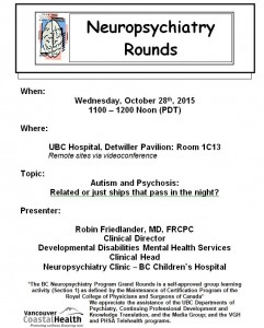 BCNP Grand Rounds  Wednesday  October 28th