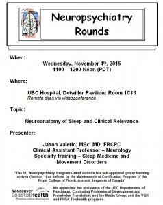 BCNP Grand Rounds  Wednesday  November  4th