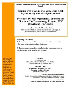 Richmond's Dept of Psychiatry Grand Rounds  Wednesday December 16th