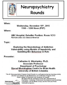 BCNP Grand Rounds: Wednesday November 18th