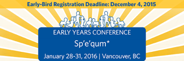 Register before Dec. 4 for Early-Bird: Early Years 2016 Conference