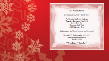 Department Festive Celebration Invitation
