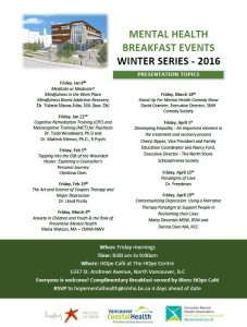 LGH -Mental Health Breakfast Winter Series 2016