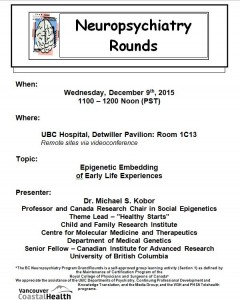 BCNP Grand Rounds: Wednesday  December 9th