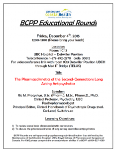 BCNP Grand Rounds: Wednesday  December 16th