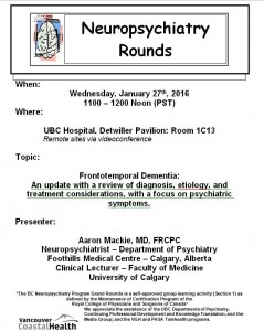 BCNP Grand Rounds: Wednesday  January  27th