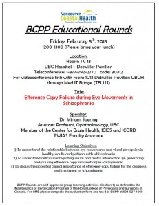BCPP February Educational Rounds Friday February 5th