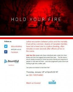 Dr. W. MacEwan featured in the documentary 'Hold your Fire'