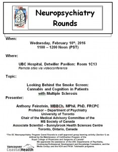 BCNP Grand Rounds: Wednesday  February  10th
