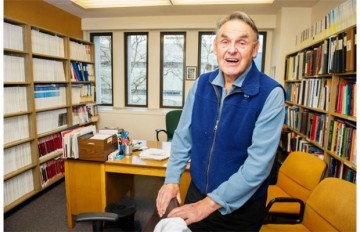 Pat McGeer was a member of UBC's 1945-46 and 1947-48 men's basketball teams. He went to Princeton and became a professor of medicine at UBC. Photograph by: Ric Ernst, Vancouver Sun