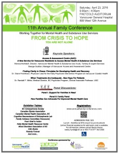 11th Annual Family Conference Saturday April 23rd