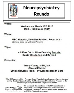 BCNP Grand Rounds: Wednesday March 23rd
