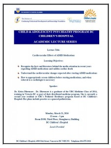 Child and Adolescent Psychiatry Academic Lecture Series Monday March 21st
