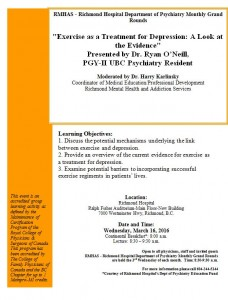 Richmond Psychiatry Grand Rounds Wednesday March 16 0830-0930