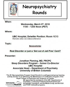 BCNP Grand Rounds: Wednesday March 9