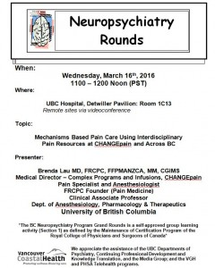 BCNP Grand Rounds: Wednesday  March 16