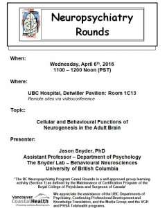 BCNP Grand Rounds: Wednesday April  6th