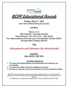BCPP May Educational Rounds Friday May 6th