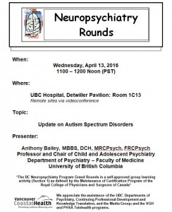 BCNP Grand Rounds: Wednesday  April  13th
