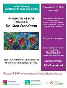 Mental Health Breakfast Series at The HOpe Centre Friday April 15th