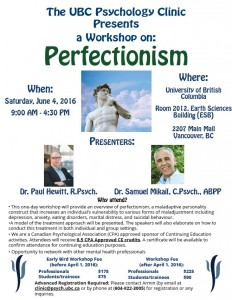 UBC Psychology Clinic workshop June 4, 2016